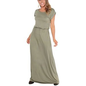 Casual Loose Short Sleeve Maxi Dress